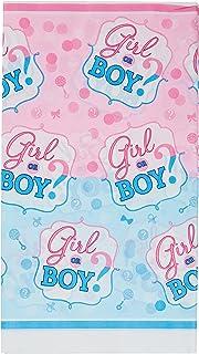 Amscan International 571573 Tablecover Plastic-Printedtc Pl Girl or Boy