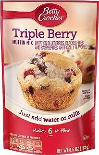 Betty Crocker Triple Berry Muffin Mix, 6.5 Ounce