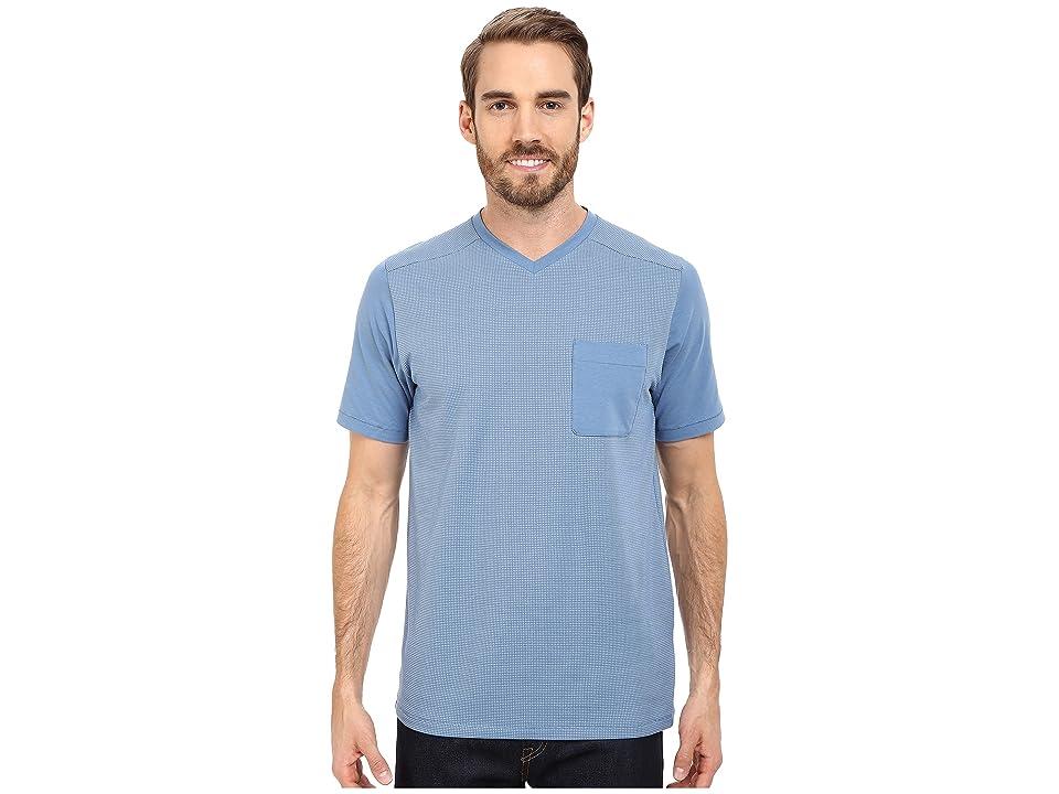 The North Face Short Sleeve Alpine Start V-Neck Tee (Moonlight Blue (Prior Season)) Men