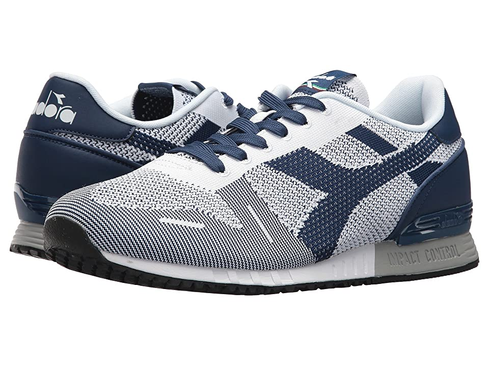Diadora Titan Weave (White/White/Estate Blue) Athletic Shoes