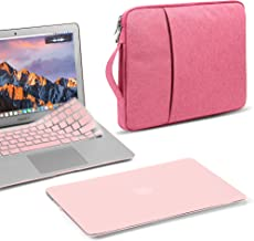 GMYLE MacBook Pro Retina 13 inch Early 2015 Case (W/O USB-C, W/O CD-ROM) A1502 A1425 2014 2013 2012 3 in 1 Bundle, Plastic Hard Shell, Protective Carrying Sleeve Handle, Keyboard Cover - Rose Quartz