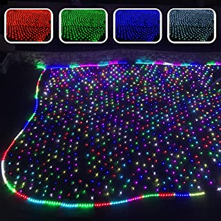 Russell Decor Net Mesh Lights Fairy String Decorative Lights Remote Control Multi Color Modes 12x5ft Bushes Tree Wrap Lights for Garden Patio Porch Backyard Wall Lawn Wedding Christmas Connectable