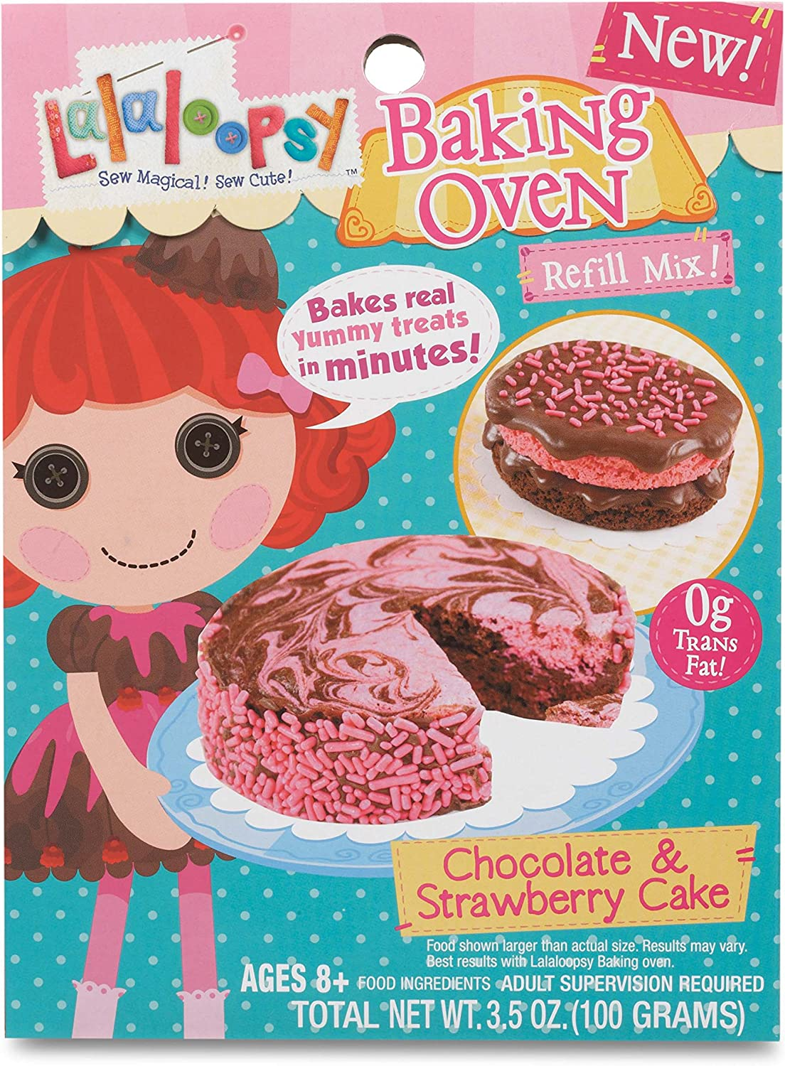 Lalaloopsy Baking Oven Mix- Cake Strawberry Chocolate free Large special price !!