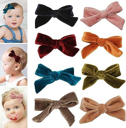 18212cf7c950af Velvet bows hair clips for girls - toddler girl hair accessories barrettes  - bow alligator clip