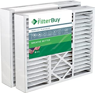 Best FilterBuy 20x25x5 Honeywell FC100A1037 Compatible Pleated AC Furnace Air Filters (MERV 13, AFB Platinum). Replaces Honeywell 203720, FC35A1027, FC100A1037, FC200E1037, Carrier FILXXCAR-0020. 2 Pack. Review