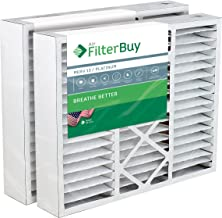 FilterBuy 20x25x5 Honeywell FC100A1037 Compatible Pleated AC Furnace Air Filters (MERV 13, AFB Platinum). Replaces Honeywell 203720, FC35A1027, FC100A1037, FC200E1037, Carrier FILXXCAR-0020. 2 Pack.