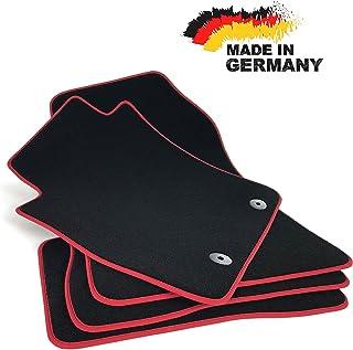 Fußmatten Juke Premium Velours SCHWARZ Hochwertige Rote Umrandung Original Qualität Automatten