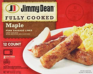Jimmy Dean, Fully Cooked Pork Sausage Links, Maple, 9.6 oz