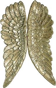 Kobolo Deko-Flügel Engelsflügel in der Farbe Gold als Wanddekoration zum Aufhängen