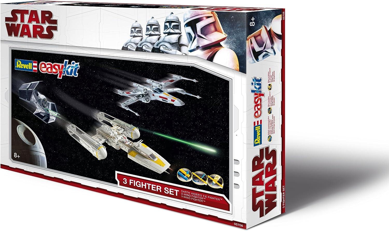 oferta de tienda Revell Revell Revell 05708 Easykit Estrella Wars - Set de reglado con 3 productos  caza estelar TIE de Darth Vader, caza estelar ala X y caza estelar ala Y  mejor opcion
