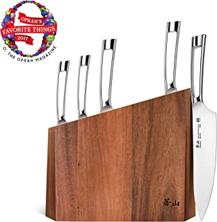 Cangshan N1 Series 59205 6-Piece German Steel Forged Knife Block Set, Acacia Block