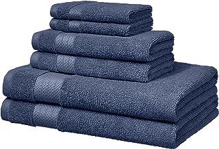 AmazonBasics Performance Bath Towels, 6 Piece Set, Twilight Blue