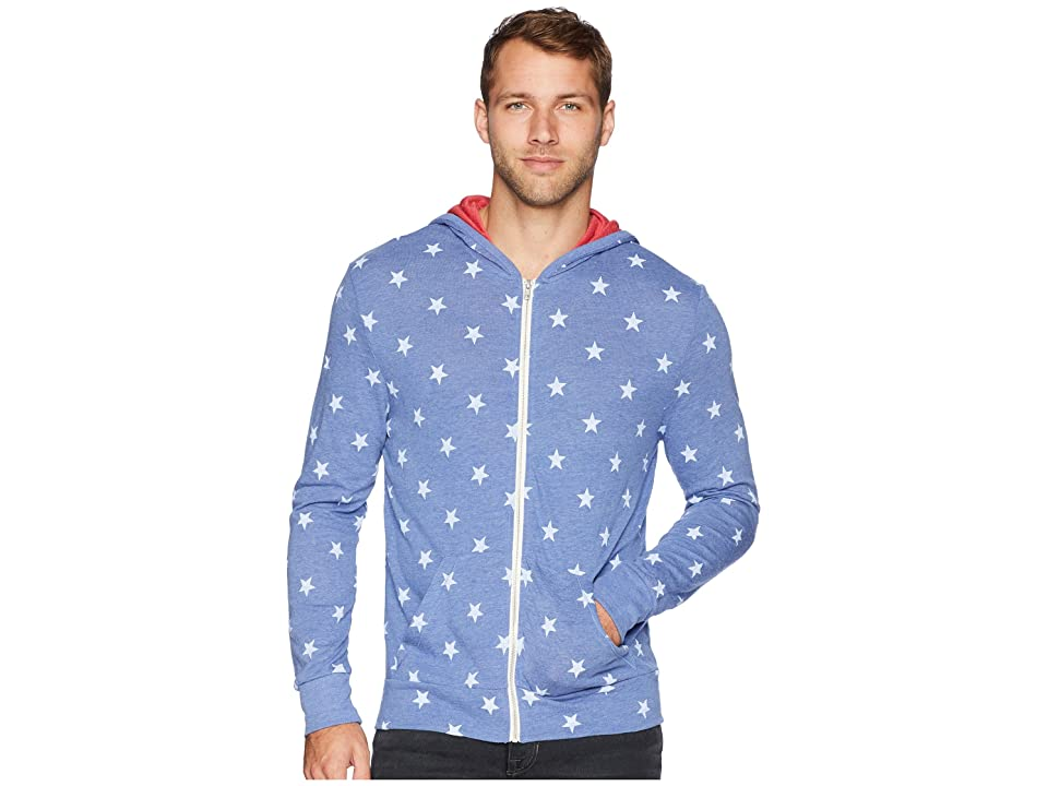 Alternative Eco Zip Hoodie (Pacific Blue Stars) Men