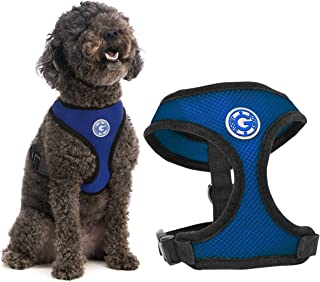 Gooby - Soft Mesh Harness, Small Dog Harness with Breathable Mesh, Blue, Small
