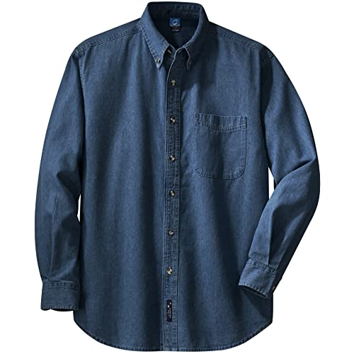 ac0bdb657c Port   Company Mens Long Sleeve Value Denim Shirt