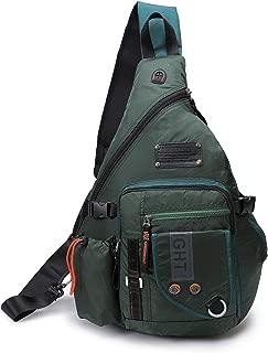 DDDH Large Sling Bags Crossbody Backpack 14.1-Inch Chest Daypack Travel Bag Book Bag for Men&Women((Green)
