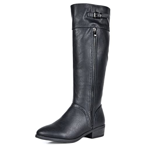 90739e9813d DREAM PAIRS Women s Fashion Knee High Winter Riding Boots (Wide Calf)