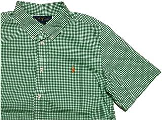 (ポロ ラルフローレン) ボーイズサイズ ボタンダウンシャツ半袖 グリーン Polo Ralph Lauren 1021 [並行輸入品]