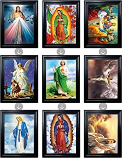 Those Flipping Pictures Religous Bundle Framed Holographic Wall Art-Multiple Pictures in ONE-Light up Your Home with Love-Lenticular Artwork-Hologram Images Change-Technology