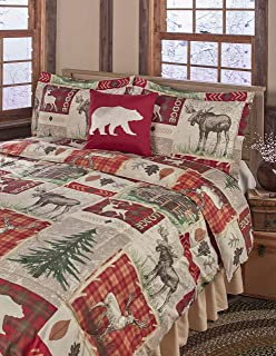 The Lakeside Collection Lodge Collage Full/Queen Comforter Set with Rustic Nature Prints - 4-Pc