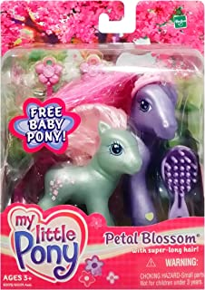 My Little Pony G3: Petal Blossom with Super Long Hair & Flower Flash Baby Pony Figure