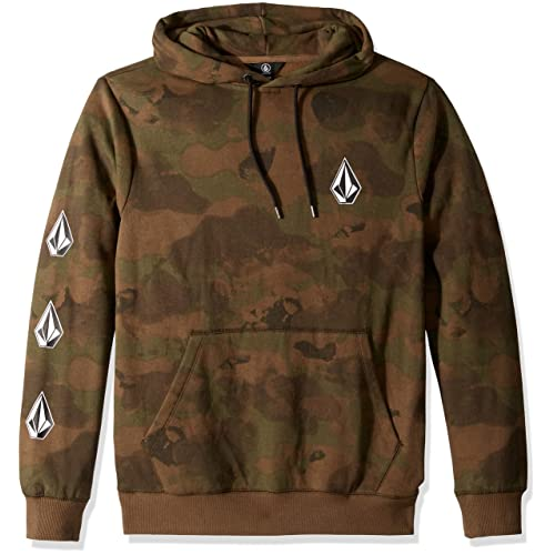 4025dada1b02a Volcom Men s Deadly Stone Pullover Hooded Fleece Sweatshirt