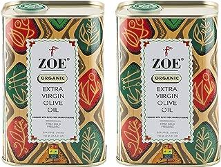 Zoe Organic Extra Virgin Olive Oil, 25.5 oz Tin (Pack Of 2)
