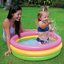Ozoy Inflatable Kids Bath Tub-3 feet Baby Water Kiddie Pool with Pump (Multi)