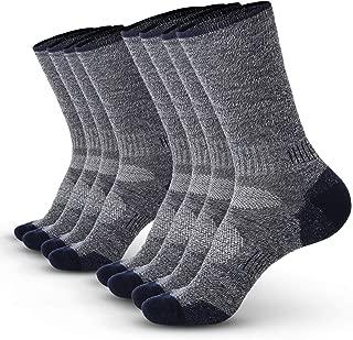 Wool Sport Socks (4-Pack) – Warm, Thermal Merino Wool –- Great for hiking, work, skiing, hunting