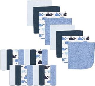 Luvable Friends Washcloths, Ballena (Whale), 24 unidades