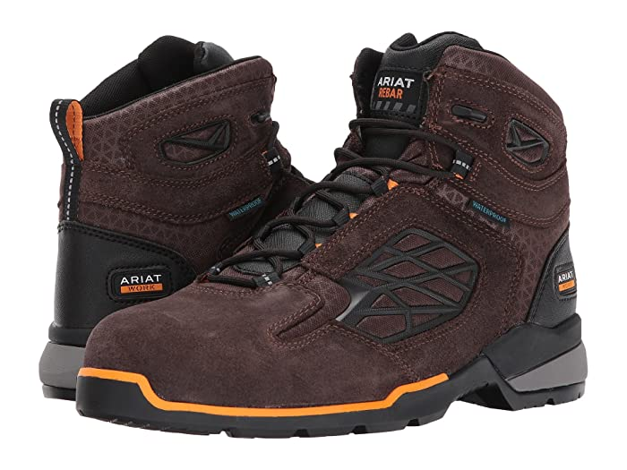 Ariat  Rebar Flex 6 Waterproof Composite Toe (Chocolate Brown) Mens Lace-up Boots