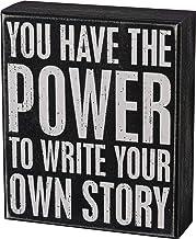 لافتة صندوق كلاسيكية باللونين الأبيض والأسود من بريمتشيفز باي كاثي 104104، 13.97 سم × 16.51 سم، اكتب قصتك الخاصة