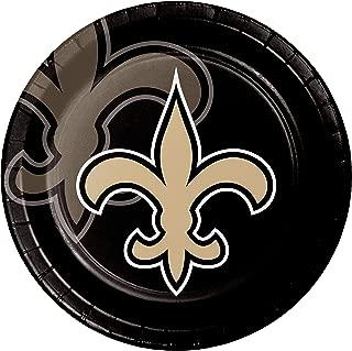 Creative Converting 335921case New Orleans Saints Dinner Plates 9