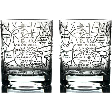 Knoxville Skyline Rocks Whiskey Glass Gift