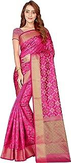 Trendy Store Women's Gorgeous Kanjivaram Silk Saree with Blouse Piece