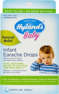 Allergy Relief for Baby by Hyland's, Infant Earache Drops, Natural Homeopathic Earache Pain Relief from Allergy and Cold & Flu, 0.33 Ounce