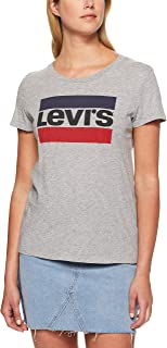 Levi's Women's The Perfect Tee Sportswear Logo, Smokestack Heather