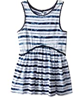 Splendid Littles - Indigo Striped Tie-Dye Swing Top (Little Kids)