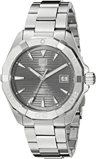 TAG Heuer Men's ' Aquaracracer Swiss Automatic Stainless Steel Dress Watch, Color:Silver-Toned (Model: WAY2113.BA0928
