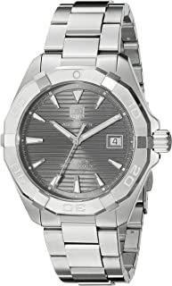 TAG Heuer Men's Aquaracracer Swiss-Automatic Watch with Stainless-Steel Strap, Silver, 20 (Model: WAY2113.BA0928)