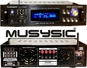MUSYSIC Professional 4000 Watts Hybrid Power Amplifier/Pre-Amplifier/Receiver Bluetooth AM/FM Tuner USB/SD Slot MP3 / iPod...