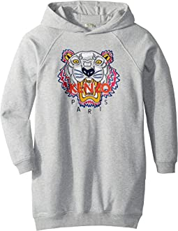 Hooded Tiger Fleece Dress (Big Kids)