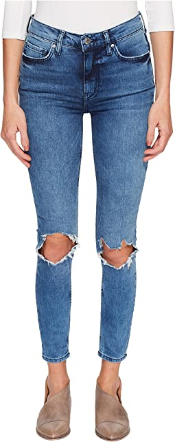Free People - High-Rise Busted Skinny in Turquoise