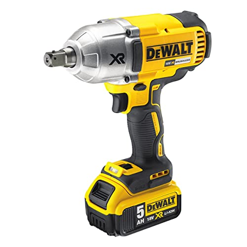 DEWALT DCF899P2 Boulonneuse à chocs Brushless 3 vitesses avec 2 batteries 18 V 5 Ah 950 Nm