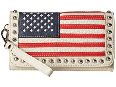 M&F Western Americana Clutch (Multi) Clutch Handbags