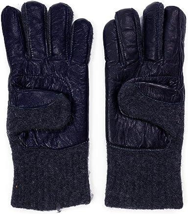 913217276d2 Dachstein Woolwear 100% Austrian Boiled Wool and Leather Trim Alpine Gloves  in Black