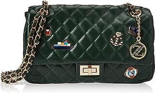 Zeneve London Womens Crossbody Bag, Green - 1191830512