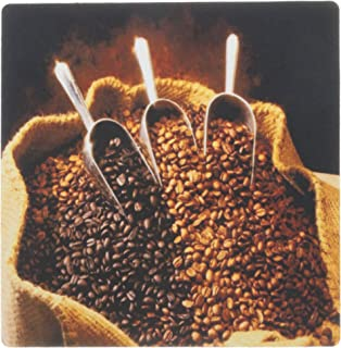3dRose LLC 8 x 8 x 0.25 Inches Mouse Pad, Coffee Beans with Scoops (mp_119309_1)