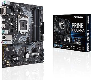 ASUS PRIME B360M-A - Placa Base mATX Intel de 8a y 9a gen. LGA1151 con iluminación LED, DDR4 2666 MHz, soporte M.2, HDMI, compatible con Intel Optane memory, SATA 6 Gbps y USB 3.1 Gen. 2