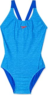 Speedo Women's END+ LEADERBK ONE Piece, Marl Lin/Beau Blue
